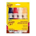 Loew-Cornell - Simply Art - Window Markers - 4 Pack