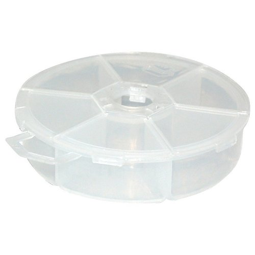 Creative Options - Round 6-Compartment Organizer - Clear