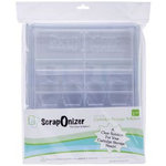 ScrapOnizer - The Clear Solution - Scrapbook and Craft Toolbox - 3 Compartments - Individual Trays with Cartridge Storage