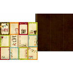 Memory Works - Simple Stories - Life Documented Collection - 12 x 12 Double Sided Paper - Flash Cards