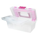 Creative Options - Craft Tool Box - Clear with Magenta