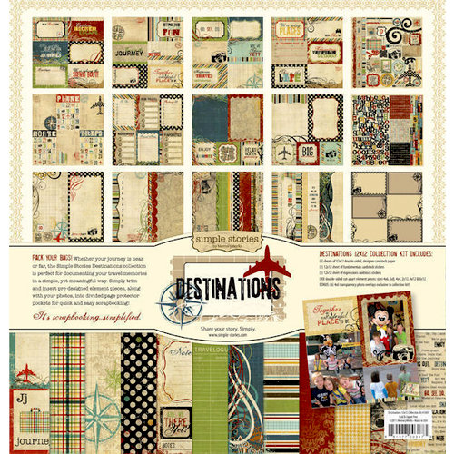 Memory Works - Simple Stories - Destinations Collection - 12 x 12 Collection Kit
