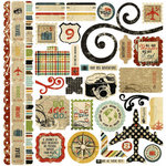 Memory Works - Simple Stories - Destinations Collection - 12 x 12 Cardstock Stickers - Fundamentals