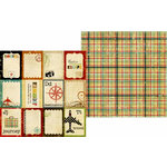 Memory Works - Simple Stories - Destinations Collection - 12 x 12 Double Sided Paper - Flash Cards