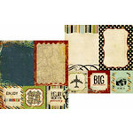 Memory Works - Simple Stories - Destinations Collection - 12 x 12 Double Sided Paper - Quote and Photo Mat Elements