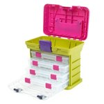 Creative Options - Grab'n Go - 4-By Rack System - Green and Magenta - Small