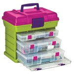 Creative Options - Grab'n Go - 3-By Rack System - Green and Magenta - Large