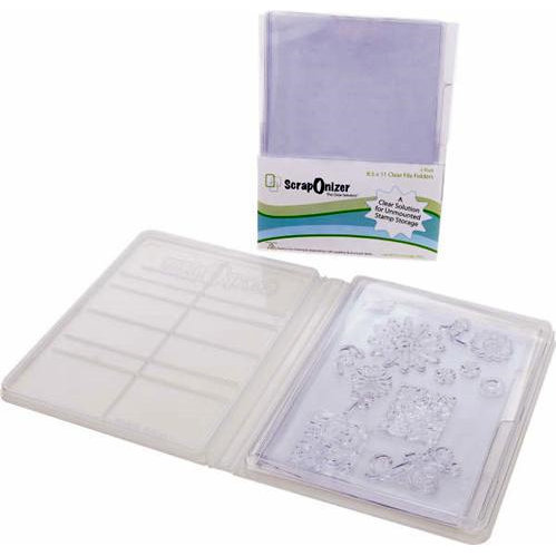 ScrapOnizer - The Clear Solution - 8.5 x 11 Clear File Folders - 2 Pack