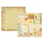 Memory Works - Simple Stories - 100 Days of Summer Collection - 12 x 12 Double Sided Paper - Sweet Memories
