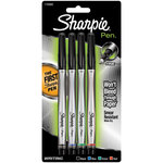 Sharpie - Fine Point - Writing Pens - Black, Blue, Red and Green - 4 Pack