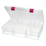 Creative Options - Pro Latch Deep Utility Box - 4-15 Compartment - Clear with Magenta