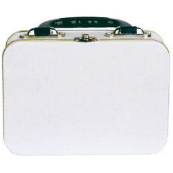Provo Craft - Tin Lunchbox with Handle - White