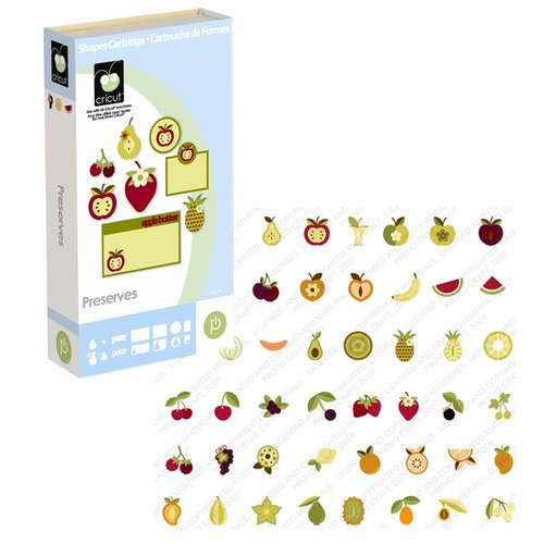 Provo Craft - Cricut Personal Electronic Cutting System - Preserves - Shapes Cartridge