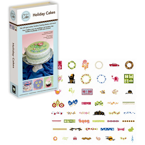 Provo Craft - Cricut Cake - Personal Electrontic Cutting Machine for Cake Decorating - Holiday Cakes - Shapes Phrases and Font Cartridge