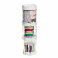 Deflecto - 3 Compartment Stacking Storage Organizer
