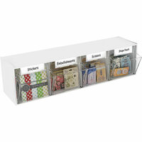 Deflecto - White Interlocking Craft Storage Tilt Bin - 4 Bins