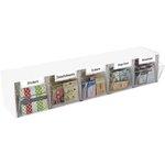 Deflecto - Interlocking Craft Storage Tilt Organizer - 5 Bins - White