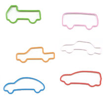 Pepperell Crafts - Memory Shape Rubber Bands - Vehicles