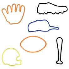 Pepperell Crafts - Memory Shape Rubber Bands - Sports