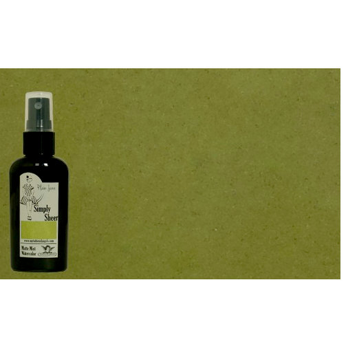 Tattered Angels - Plain Jane Collection - Simply Sheer - Watercolor Matte Mist - 2 Ounce Bottle - Warm Green