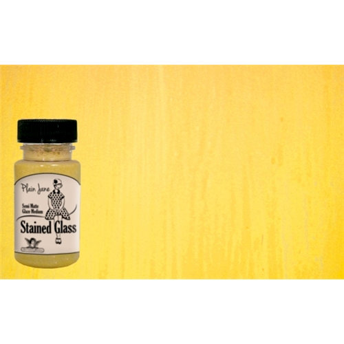 Tattered Angels - Plain Jane Collection - Stained Glass - Semi Matte Glaze - 1.35 Ounce Bottle - Yellow