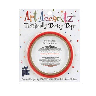 Provo Craft Art Accentz - Terrifically Tacky Tape - One-Fourth Inch by 5 yards