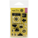 Waffle Flower Crafts - Clear Photopolymer Stamps - Planner Add-On - Weather 1