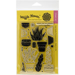 Waffle Flower Crafts - Clear Acrylic Stamps - Planted