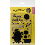 Waffle Flower Crafts - Clear Acrylic Stamps - Shower