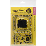 Waffle Flower Crafts - Clear Acrylic Stamps - Doily Square