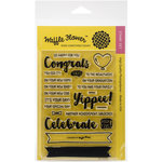 Waffle Flower Crafts - Clear Acrylic Stamps - Congrats