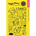 Waffle Flower Crafts - Clear Acrylic Stamps - Willy and Friends