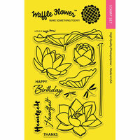 Waffle Flower Crafts - Clear Photopolymer Stamps - Lotus