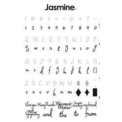 Provo Craft - Cricut Personal Electronic Cutting System - Jasmine Font - Alphabet Cartridge, CLEARANCE