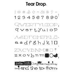 Provo Craft - Cricut Personal Electronic Cutting System - Tear Drop Font - Alphabet Cartridge