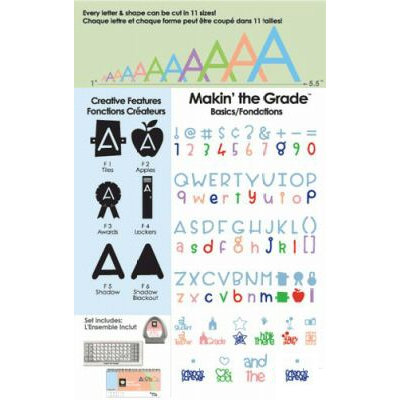 Provo Craft - Cricut Personal Electronic Cutting System - Makin' the Grade Font - Alphabet Cartridge, CLEARANCE