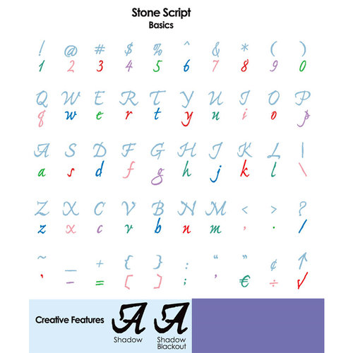 Provo Craft - Cricut Personal Electronic Cutting System - Stone Script Font - Alphabet Cartridge, CLEARANCE