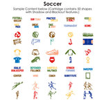Provo Craft - Cricut Personal Electronic Cutting System - Soccer - Shapes Cartridge