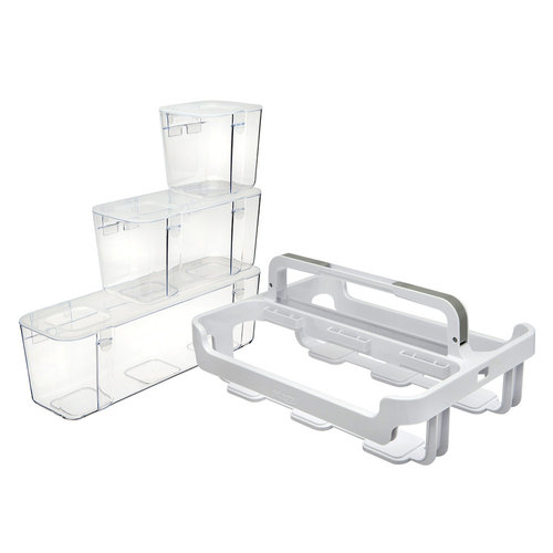 Deflecto - Caddy Organizer with Small Medium and Large Compartments - White