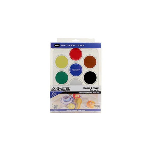 PanPastel - Colorfin - Ultra Soft Artists' Painting Pastels - Starter Set - Basic Colors