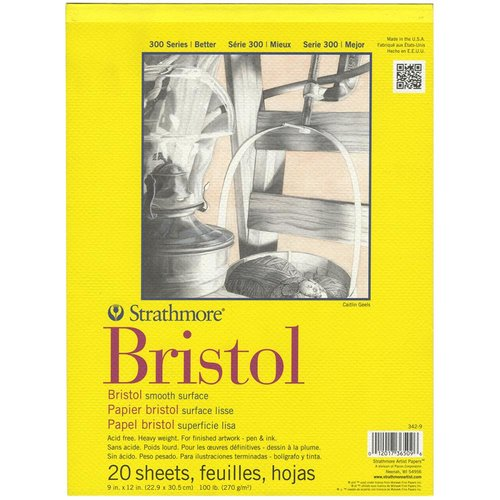Strathmore Bristol Smooth Paper 100 lb weight