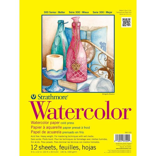 Strathmore 300 series Watercolor Paper 9 x12 pad