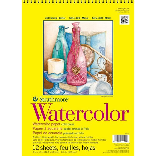 Strathmore - 9 x 12 Watercolor Spiral Paper Pad - 12 Sheets