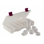 Creative Options - Six-Stack Jar Bead Corral with Jars - Clear with Magenta