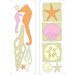 Provo Craft - Cuttlebug - Die Cut Set - 2 Die Cuts - From The Sea, CLEARANCE