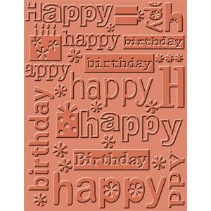 Provo Craft - Cuttlebug - Embossing Folder - Happy Birthday