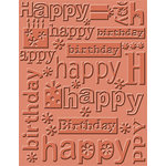 Provo Craft - Cuttlebug - Embossing Folder - Happy Birthday