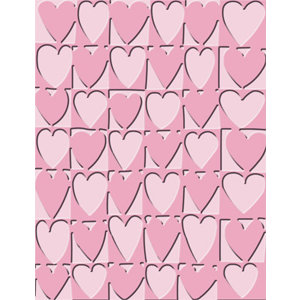 Provo Craft - Cuttlebug - Embossing Folder - Heart Blocks
