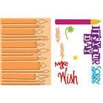 Provo Craft - Cuttlebug - Embossing Folder and Die Cut Combo - Birthday Wishes