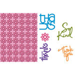 Provo Craft - Cuttlebug - Embossing Folder and Die Cut Combo - With Gratitude, CLEARANCE